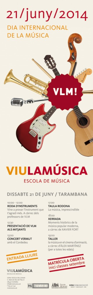 cartell VIU LA MUSICA